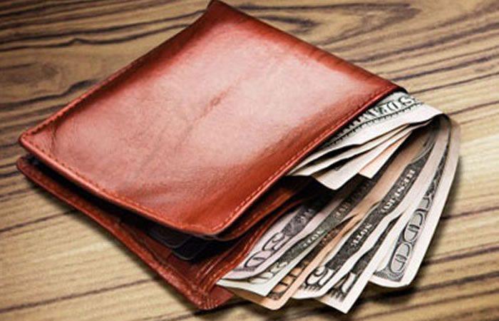 sal en la billetera